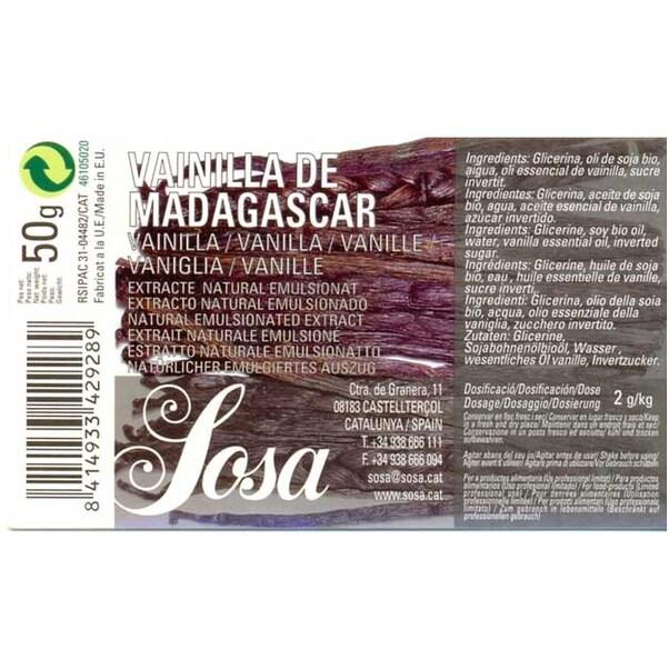 Extract Natural de Vanilie Bourbon de Madagascar, 50g - SOSA