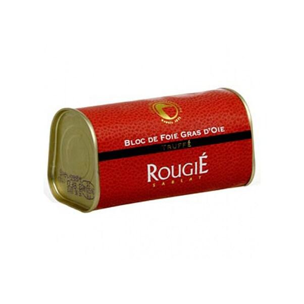 Bloc de Foie Gras de Gasca cu Bucati, 3% Trufe, 210 g - Rougié, Franta
